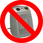 no space heater