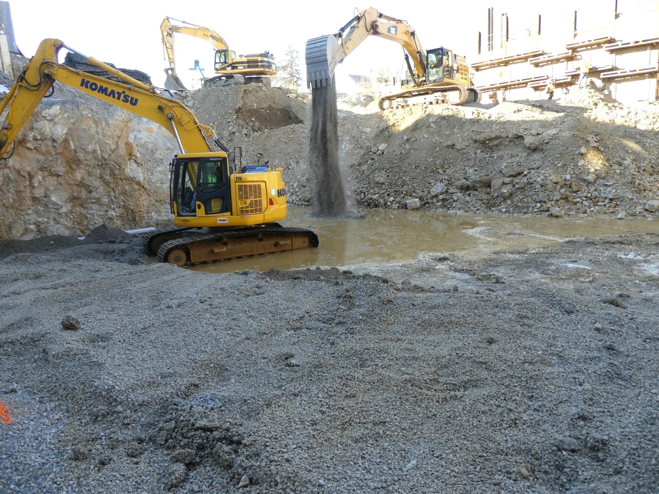 North End Excavation Progress